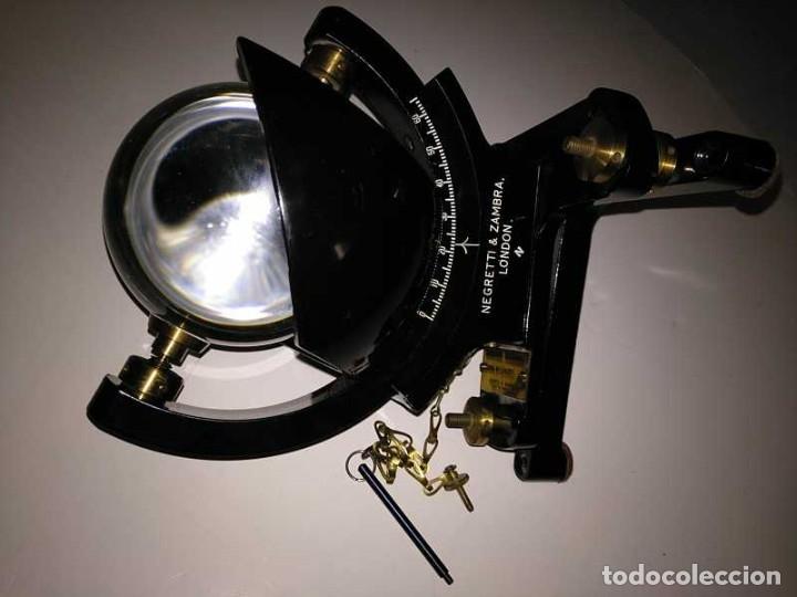 Antigüedades: HELIOGRAFO CAMPBELL STOKES SUNSHINE RECORDER NEGRETTI & ZAMBRA LONDON GRABADOR DE LUZ SOLAR HELIOGRA - Foto 95 - 180193120