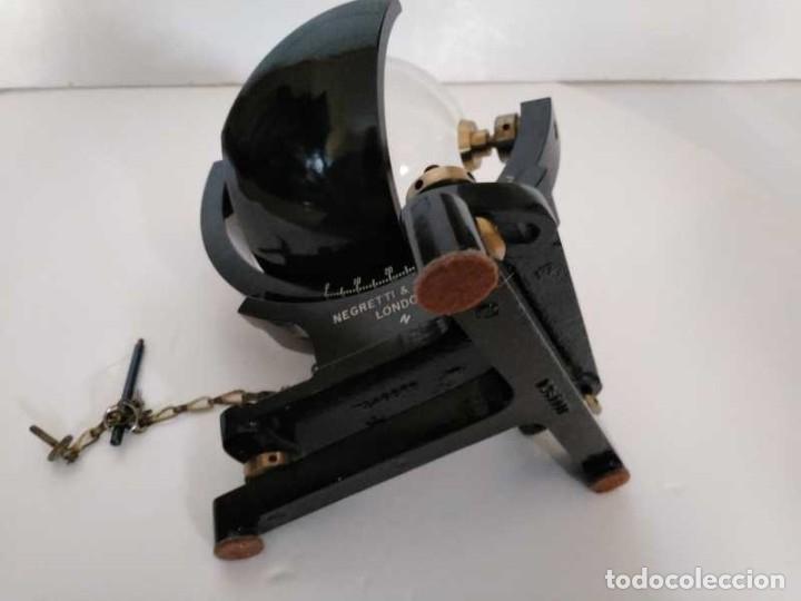 Antigüedades: HELIOGRAFO CAMPBELL STOKES SUNSHINE RECORDER NEGRETTI & ZAMBRA LONDON GRABADOR DE LUZ SOLAR HELIOGRA - Foto 97 - 180193120