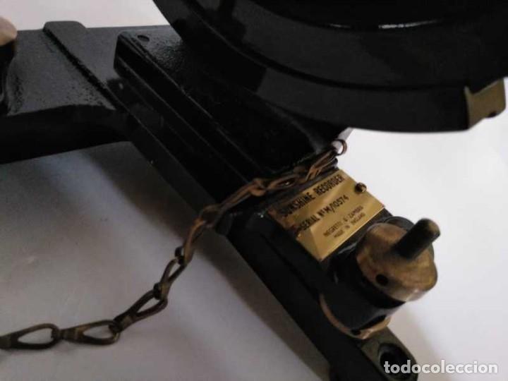 Antigüedades: HELIOGRAFO CAMPBELL STOKES SUNSHINE RECORDER NEGRETTI & ZAMBRA LONDON GRABADOR DE LUZ SOLAR HELIOGRA - Foto 99 - 180193120