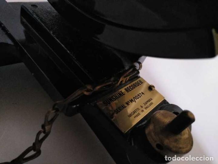 Antigüedades: HELIOGRAFO CAMPBELL STOKES SUNSHINE RECORDER NEGRETTI & ZAMBRA LONDON GRABADOR DE LUZ SOLAR HELIOGRA - Foto 100 - 180193120