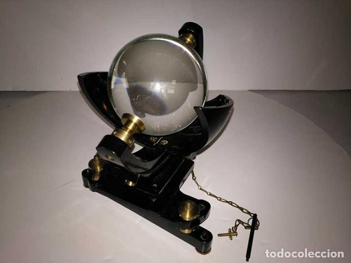 Antigüedades: HELIOGRAFO CAMPBELL STOKES SUNSHINE RECORDER NEGRETTI & ZAMBRA LONDON GRABADOR DE LUZ SOLAR HELIOGRA - Foto 106 - 180193120