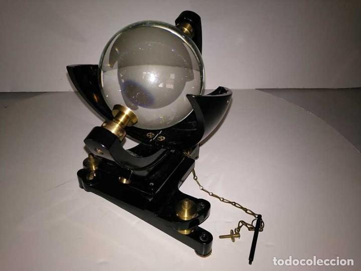 Antigüedades: HELIOGRAFO CAMPBELL STOKES SUNSHINE RECORDER NEGRETTI & ZAMBRA LONDON GRABADOR DE LUZ SOLAR HELIOGRA - Foto 107 - 180193120
