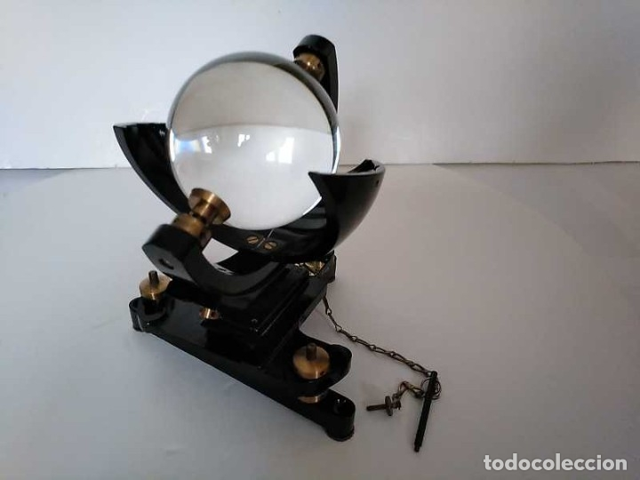 Antigüedades: HELIOGRAFO CAMPBELL STOKES SUNSHINE RECORDER NEGRETTI & ZAMBRA LONDON GRABADOR DE LUZ SOLAR HELIOGRA - Foto 108 - 180193120