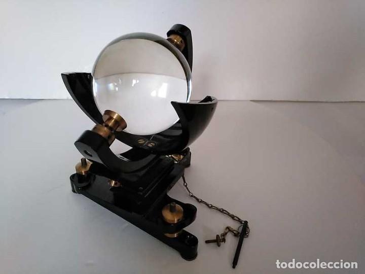 Antigüedades: HELIOGRAFO CAMPBELL STOKES SUNSHINE RECORDER NEGRETTI & ZAMBRA LONDON GRABADOR DE LUZ SOLAR HELIOGRA - Foto 109 - 180193120