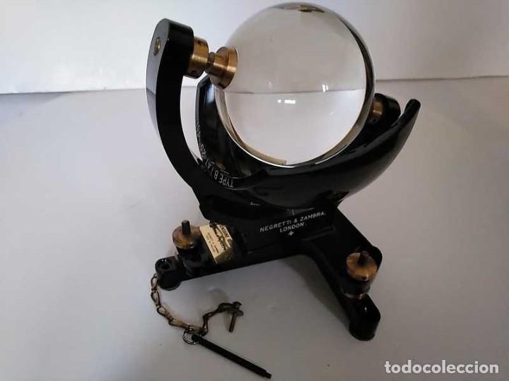 Antigüedades: HELIOGRAFO CAMPBELL STOKES SUNSHINE RECORDER NEGRETTI & ZAMBRA LONDON GRABADOR DE LUZ SOLAR HELIOGRA - Foto 110 - 180193120