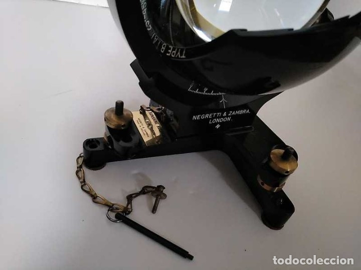 Antigüedades: HELIOGRAFO CAMPBELL STOKES SUNSHINE RECORDER NEGRETTI & ZAMBRA LONDON GRABADOR DE LUZ SOLAR HELIOGRA - Foto 114 - 180193120