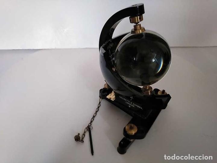 Antigüedades: HELIOGRAFO CAMPBELL STOKES SUNSHINE RECORDER NEGRETTI & ZAMBRA LONDON GRABADOR DE LUZ SOLAR HELIOGRA - Foto 123 - 180193120