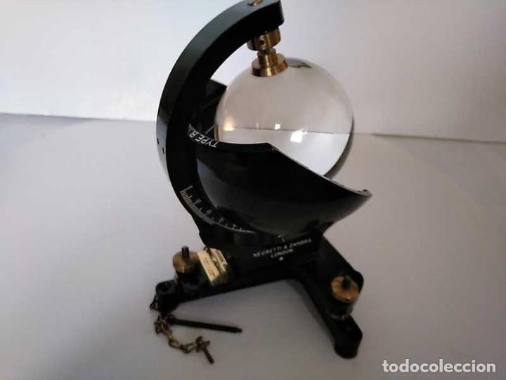 Antigüedades: HELIOGRAFO CAMPBELL STOKES SUNSHINE RECORDER NEGRETTI & ZAMBRA LONDON GRABADOR DE LUZ SOLAR HELIOGRA - Foto 124 - 180193120
