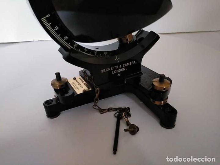 Antigüedades: HELIOGRAFO CAMPBELL STOKES SUNSHINE RECORDER NEGRETTI & ZAMBRA LONDON GRABADOR DE LUZ SOLAR HELIOGRA - Foto 128 - 180193120