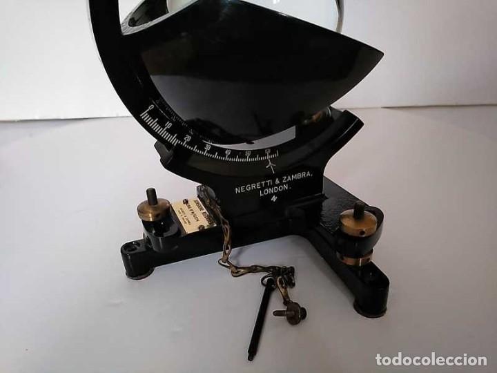 Antigüedades: HELIOGRAFO CAMPBELL STOKES SUNSHINE RECORDER NEGRETTI & ZAMBRA LONDON GRABADOR DE LUZ SOLAR HELIOGRA - Foto 129 - 180193120