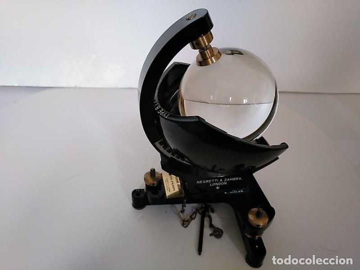 Antigüedades: HELIOGRAFO CAMPBELL STOKES SUNSHINE RECORDER NEGRETTI & ZAMBRA LONDON GRABADOR DE LUZ SOLAR HELIOGRA - Foto 131 - 180193120