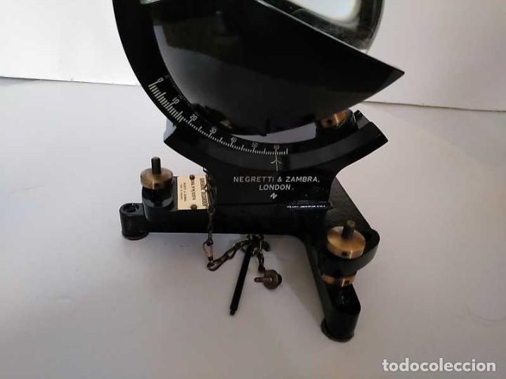 Antigüedades: HELIOGRAFO CAMPBELL STOKES SUNSHINE RECORDER NEGRETTI & ZAMBRA LONDON GRABADOR DE LUZ SOLAR HELIOGRA - Foto 132 - 180193120