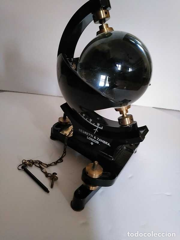 Antigüedades: HELIOGRAFO CAMPBELL STOKES SUNSHINE RECORDER NEGRETTI & ZAMBRA LONDON GRABADOR DE LUZ SOLAR HELIOGRA - Foto 138 - 180193120