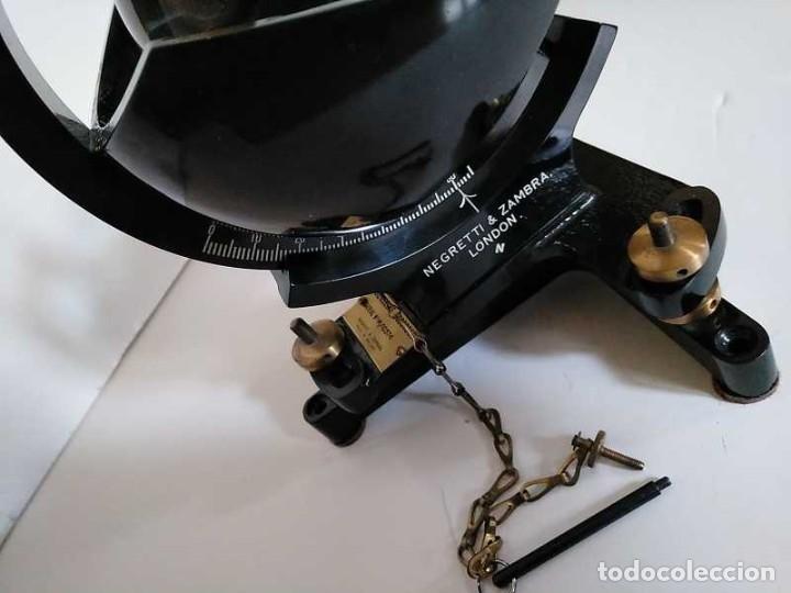 Antigüedades: HELIOGRAFO CAMPBELL STOKES SUNSHINE RECORDER NEGRETTI & ZAMBRA LONDON GRABADOR DE LUZ SOLAR HELIOGRA - Foto 140 - 180193120