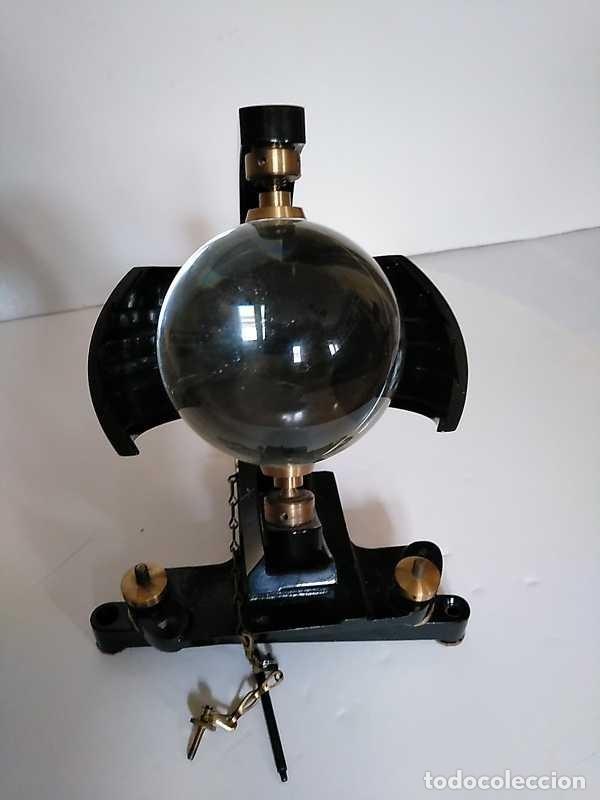 Antigüedades: HELIOGRAFO CAMPBELL STOKES SUNSHINE RECORDER NEGRETTI & ZAMBRA LONDON GRABADOR DE LUZ SOLAR HELIOGRA - Foto 141 - 180193120