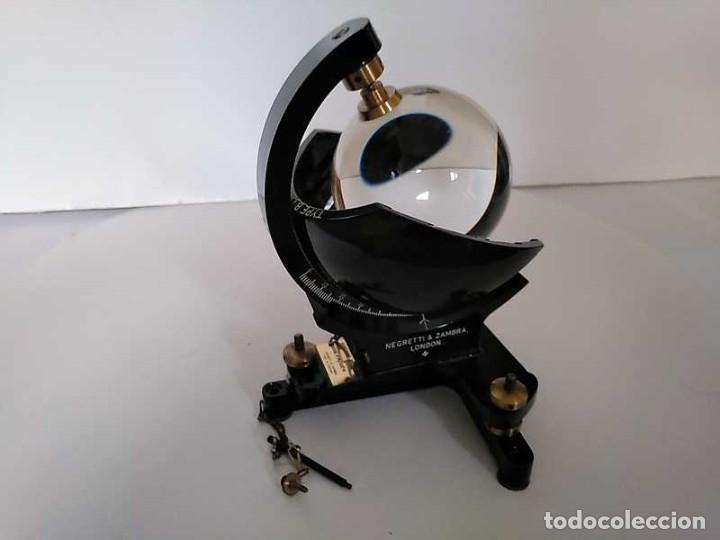 Antigüedades: HELIOGRAFO CAMPBELL STOKES SUNSHINE RECORDER NEGRETTI & ZAMBRA LONDON GRABADOR DE LUZ SOLAR HELIOGRA - Foto 147 - 180193120