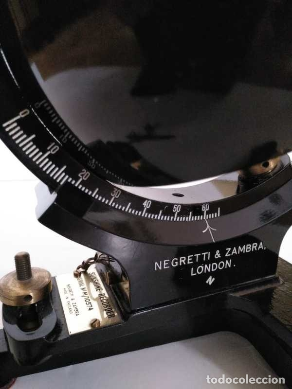 Antigüedades: HELIOGRAFO CAMPBELL STOKES SUNSHINE RECORDER NEGRETTI & ZAMBRA LONDON GRABADOR DE LUZ SOLAR HELIOGRA - Foto 151 - 180193120