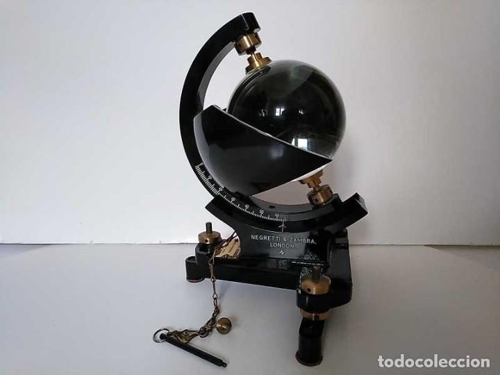 Antigüedades: HELIOGRAFO CAMPBELL STOKES SUNSHINE RECORDER NEGRETTI & ZAMBRA LONDON GRABADOR DE LUZ SOLAR HELIOGRA - Foto 152 - 180193120