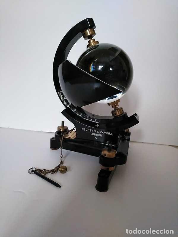 Antigüedades: HELIOGRAFO CAMPBELL STOKES SUNSHINE RECORDER NEGRETTI & ZAMBRA LONDON GRABADOR DE LUZ SOLAR HELIOGRA - Foto 153 - 180193120