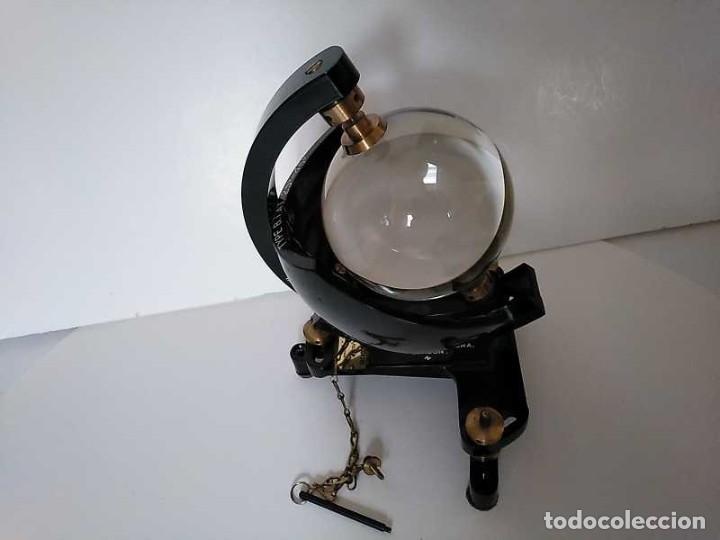 Antigüedades: HELIOGRAFO CAMPBELL STOKES SUNSHINE RECORDER NEGRETTI & ZAMBRA LONDON GRABADOR DE LUZ SOLAR HELIOGRA - Foto 154 - 180193120