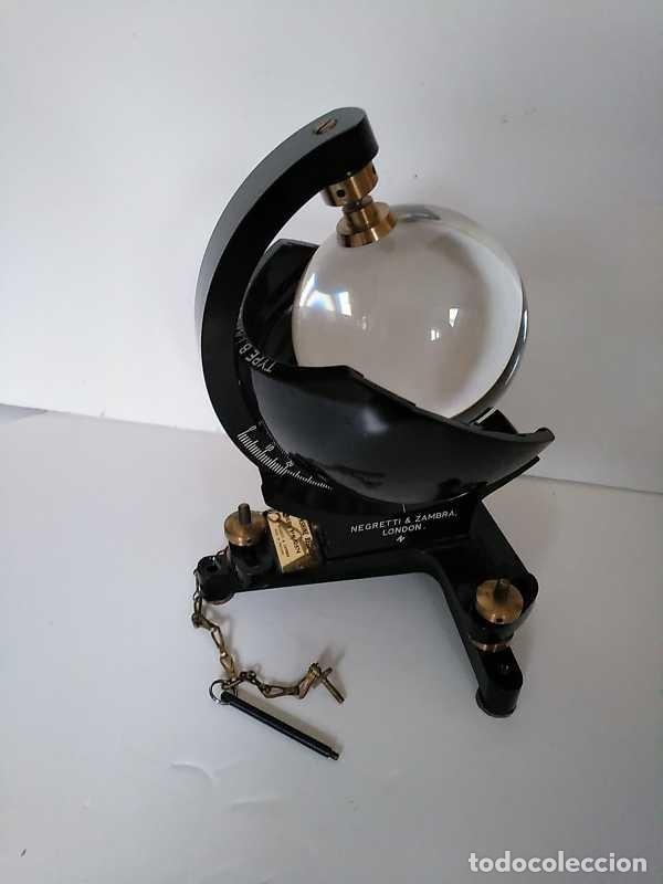 Antigüedades: HELIOGRAFO CAMPBELL STOKES SUNSHINE RECORDER NEGRETTI & ZAMBRA LONDON GRABADOR DE LUZ SOLAR HELIOGRA - Foto 155 - 180193120
