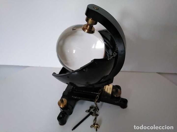Antigüedades: HELIOGRAFO CAMPBELL STOKES SUNSHINE RECORDER NEGRETTI & ZAMBRA LONDON GRABADOR DE LUZ SOLAR HELIOGRA - Foto 160 - 180193120