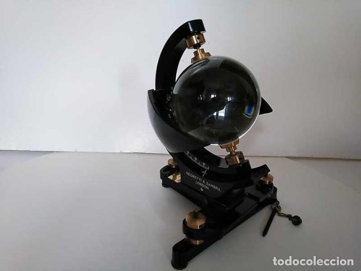 Antigüedades: HELIOGRAFO CAMPBELL STOKES SUNSHINE RECORDER NEGRETTI & ZAMBRA LONDON GRABADOR DE LUZ SOLAR HELIOGRA - Foto 167 - 180193120