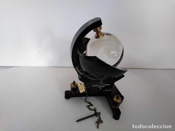 Antigüedades: HELIOGRAFO CAMPBELL STOKES SUNSHINE RECORDER NEGRETTI & ZAMBRA LONDON GRABADOR DE LUZ SOLAR HELIOGRA - Foto 169 - 180193120