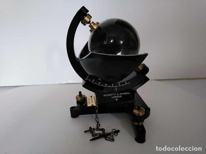 Antigüedades: HELIOGRAFO CAMPBELL STOKES SUNSHINE RECORDER NEGRETTI & ZAMBRA LONDON GRABADOR DE LUZ SOLAR HELIOGRA - Foto 176 - 180193120