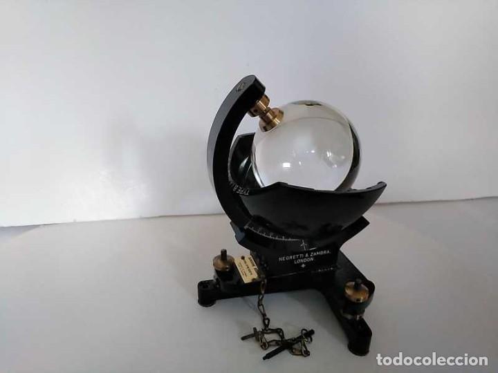 Antigüedades: HELIOGRAFO CAMPBELL STOKES SUNSHINE RECORDER NEGRETTI & ZAMBRA LONDON GRABADOR DE LUZ SOLAR HELIOGRA - Foto 177 - 180193120