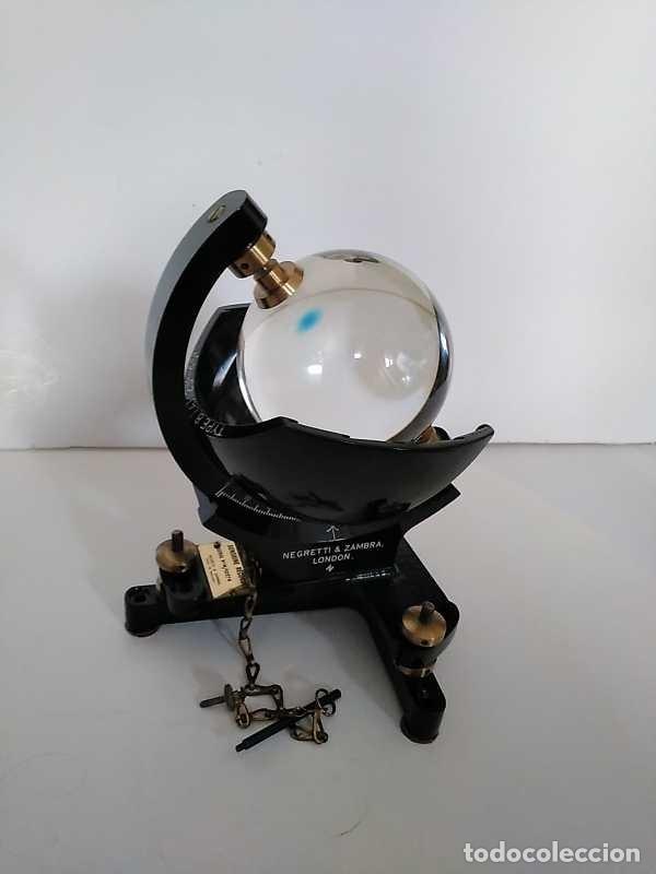 Antigüedades: HELIOGRAFO CAMPBELL STOKES SUNSHINE RECORDER NEGRETTI & ZAMBRA LONDON GRABADOR DE LUZ SOLAR HELIOGRA - Foto 178 - 180193120