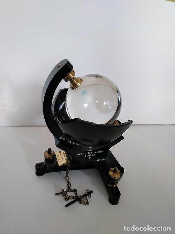 Antigüedades: HELIOGRAFO CAMPBELL STOKES SUNSHINE RECORDER NEGRETTI & ZAMBRA LONDON GRABADOR DE LUZ SOLAR HELIOGRA - Foto 179 - 180193120