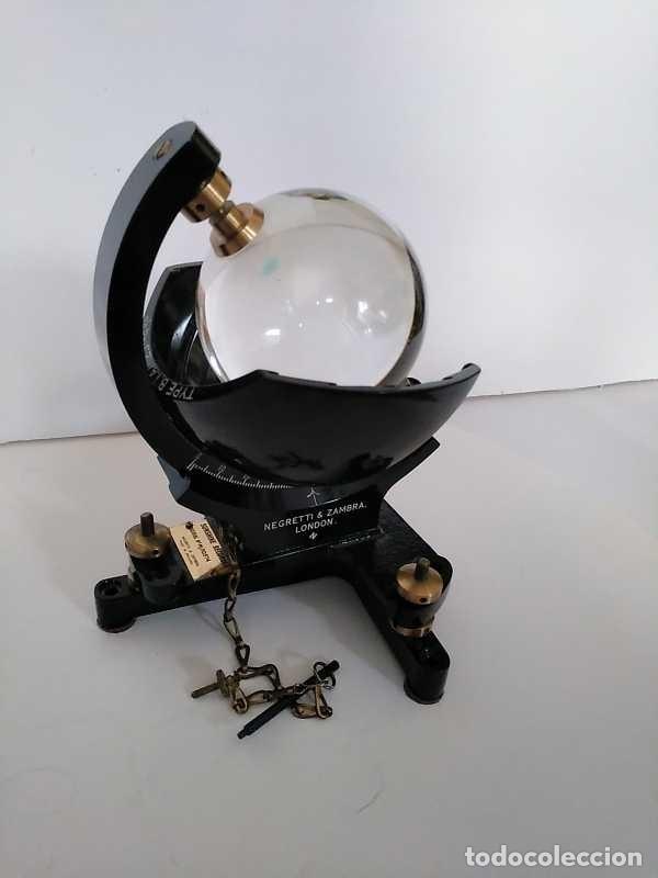 Antigüedades: HELIOGRAFO CAMPBELL STOKES SUNSHINE RECORDER NEGRETTI & ZAMBRA LONDON GRABADOR DE LUZ SOLAR HELIOGRA - Foto 181 - 180193120