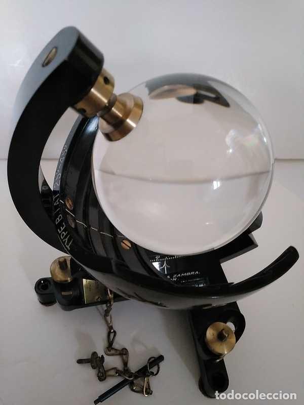 Antigüedades: HELIOGRAFO CAMPBELL STOKES SUNSHINE RECORDER NEGRETTI & ZAMBRA LONDON GRABADOR DE LUZ SOLAR HELIOGRA - Foto 183 - 180193120