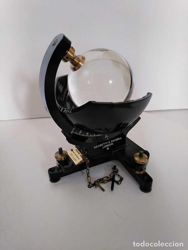 Antigüedades: HELIOGRAFO CAMPBELL STOKES SUNSHINE RECORDER NEGRETTI & ZAMBRA LONDON GRABADOR DE LUZ SOLAR HELIOGRA - Foto 187 - 180193120