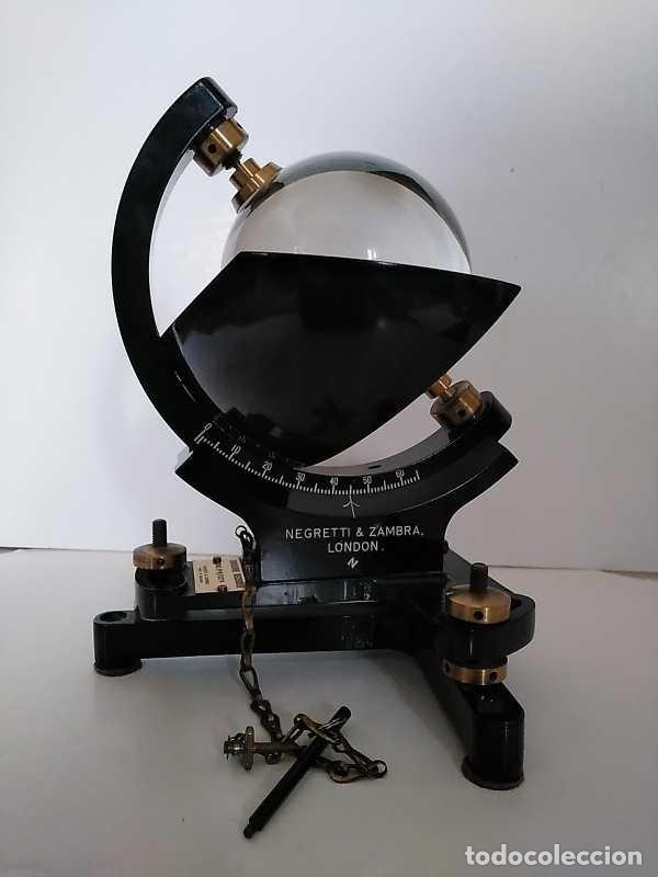 Antigüedades: HELIOGRAFO CAMPBELL STOKES SUNSHINE RECORDER NEGRETTI & ZAMBRA LONDON GRABADOR DE LUZ SOLAR HELIOGRA - Foto 188 - 180193120