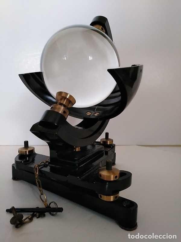 Antigüedades: HELIOGRAFO CAMPBELL STOKES SUNSHINE RECORDER NEGRETTI & ZAMBRA LONDON GRABADOR DE LUZ SOLAR HELIOGRA - Foto 191 - 180193120