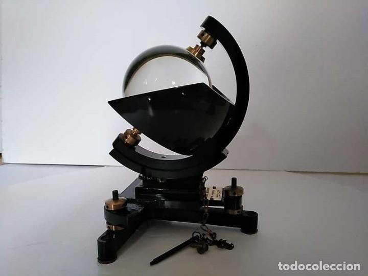 Antigüedades: HELIOGRAFO CAMPBELL STOKES SUNSHINE RECORDER NEGRETTI & ZAMBRA LONDON GRABADOR DE LUZ SOLAR HELIOGRA - Foto 193 - 180193120