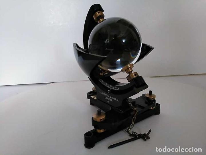 Antigüedades: HELIOGRAFO CAMPBELL STOKES SUNSHINE RECORDER NEGRETTI & ZAMBRA LONDON GRABADOR DE LUZ SOLAR HELIOGRA - Foto 194 - 180193120