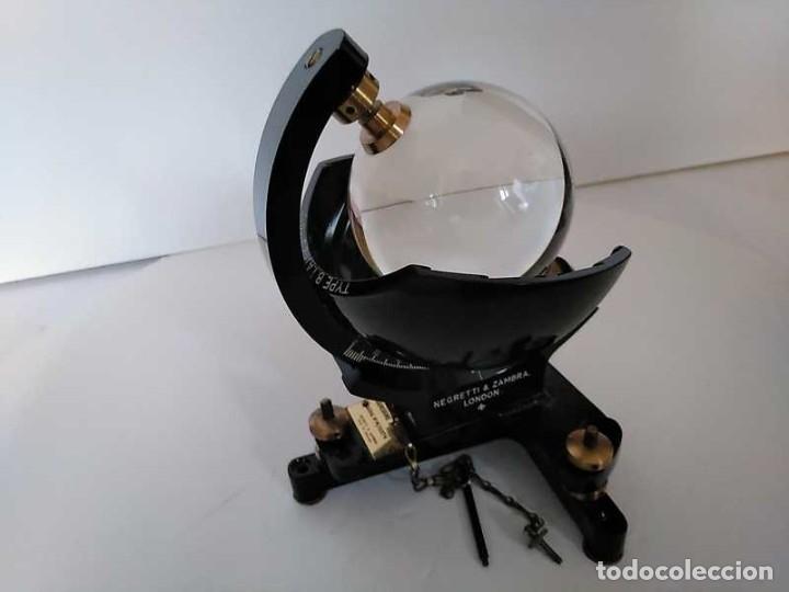 Antigüedades: HELIOGRAFO CAMPBELL STOKES SUNSHINE RECORDER NEGRETTI & ZAMBRA LONDON GRABADOR DE LUZ SOLAR HELIOGRA - Foto 196 - 180193120