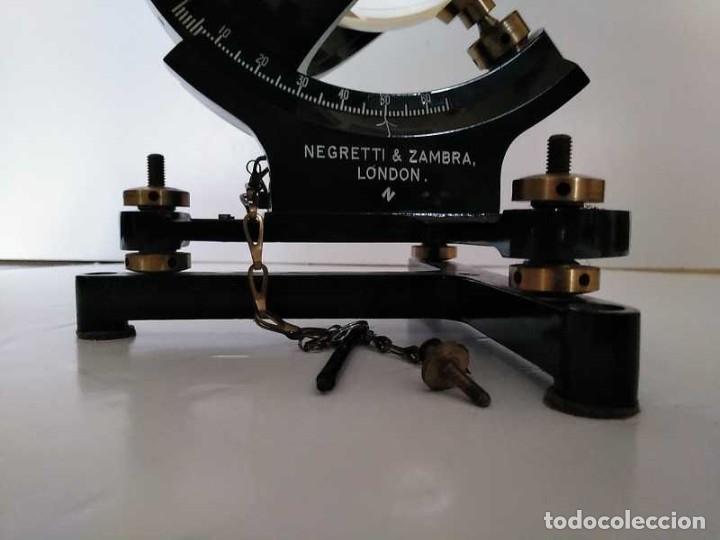 Antigüedades: HELIOGRAFO CAMPBELL STOKES SUNSHINE RECORDER NEGRETTI & ZAMBRA LONDON GRABADOR DE LUZ SOLAR HELIOGRA - Foto 197 - 180193120
