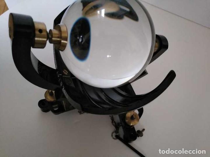 Antigüedades: HELIOGRAFO CAMPBELL STOKES SUNSHINE RECORDER NEGRETTI & ZAMBRA LONDON GRABADOR DE LUZ SOLAR HELIOGRA - Foto 209 - 180193120