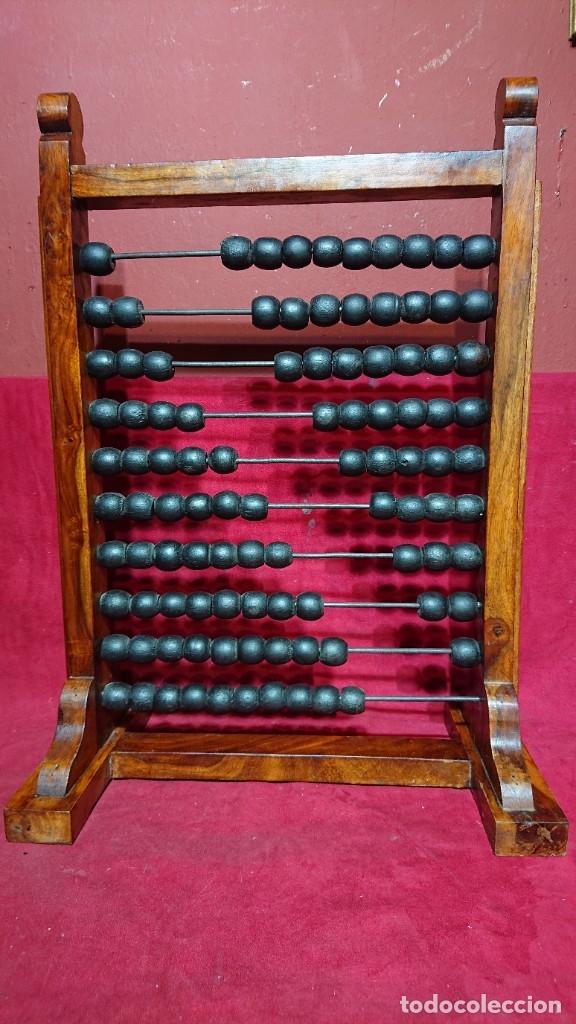 BONITO ABACO OBJETO CALCULADOR DE COLEGIO MADERA CON BARRAS METALICAS 62,5 CM ALTURA (Antigüedades - Técnicas - Aparatos de Cálculo - Ábacos Antiguos)