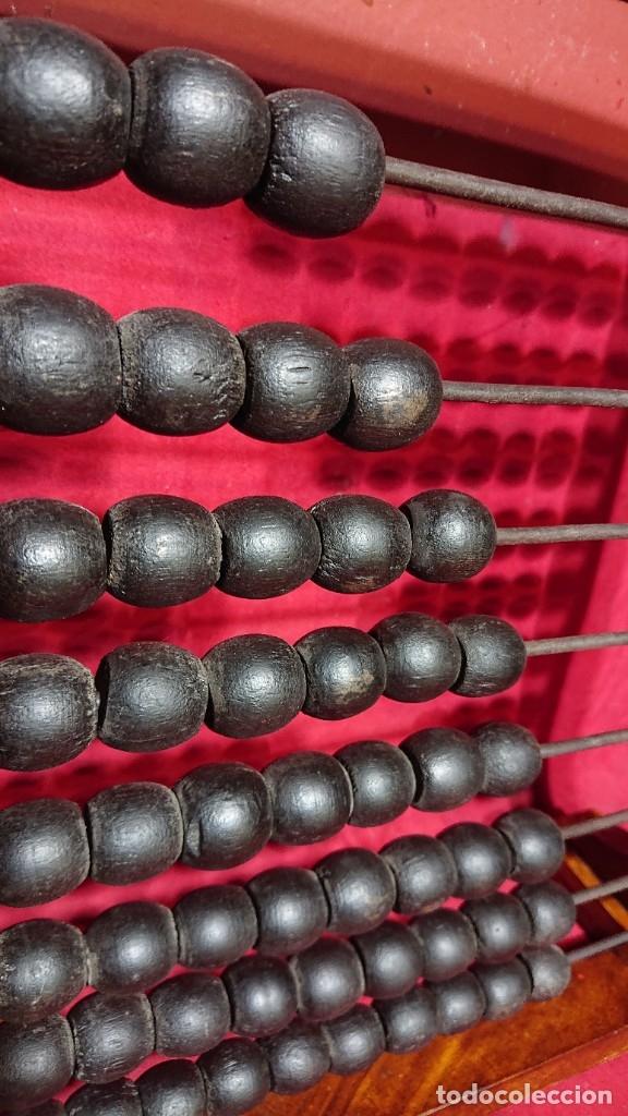 Antigüedades: BONITO ABACO OBJETO CALCULADOR DE COLEGIO MADERA CON BARRAS METALICAS 62,5 CM ALTURA - Foto 3 - 180202675
