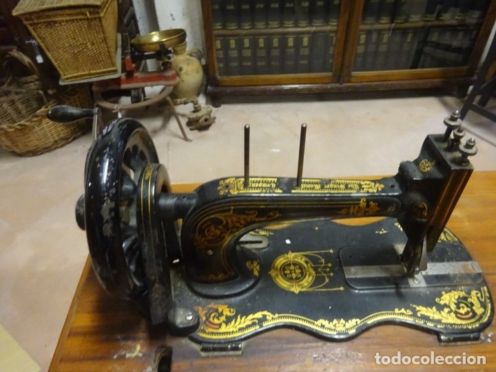 MAQUINA COSER SINGER (Antigüedades - Técnicas - Máquinas de Coser Antiguas - Singer)