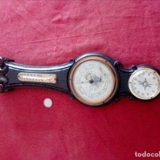Antigüedades: CONJUNTO DE BARÓMETRO, TERMÓMETRO, Y HIGRÓMETRO. Lote 180249297