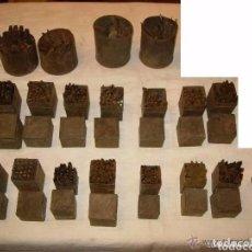 Antigüedades: GRABADORES MARCADORES CINCELES, LETRAS NUMEROS PUNTUACION, IMPRENTA PRENSA MARTILLO, ANTIGUOS HIERRO. Lote 180264530