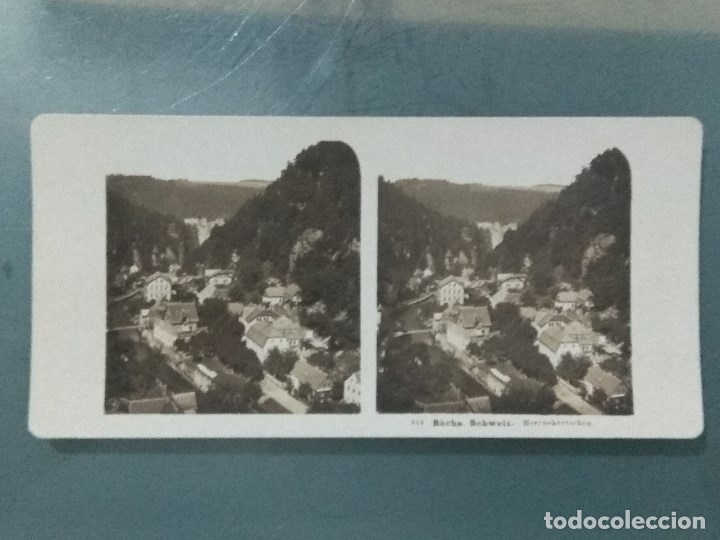 Antigüedades: VISOR ESTEREOSCOPIO PERFECSCOPE USA AÑO 1895. Original. - Foto 16 - 180270453