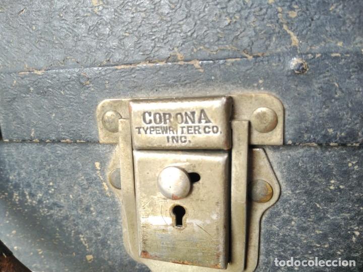 Antigüedades: Maleta de máquina de escribir, marca Corona - Foto 2 - 180274215