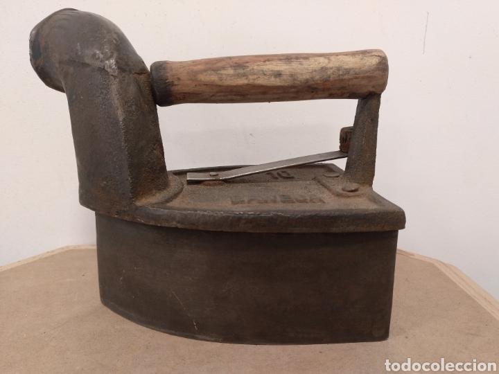Antigüedades: PLANCHA DE CHIMENEA EN HIERRO FUNDIDO - Foto 2 - 180290952